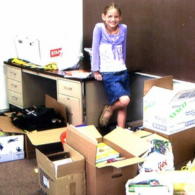 4thgrader helps Katrina victims.