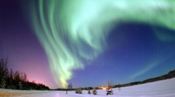 Winter's Northern Lights Show Called Aurora Borealis