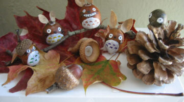 autumn-craft-using-pinecones-acorns