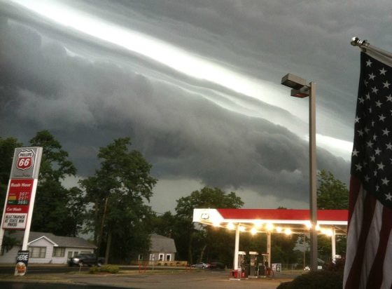 This is a derecho storm in Laporte, Indiana (2012).