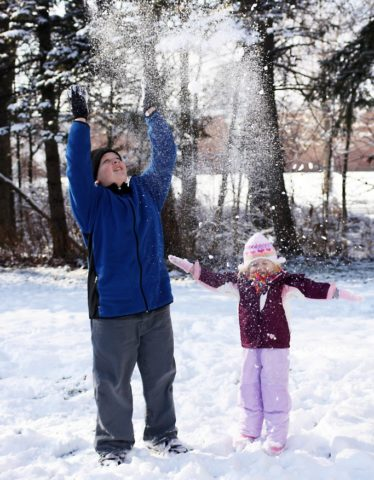 Kids like to make it snow because they enjoy playing in the fun and icy white stuff.
