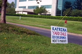 Katrina yard sale in Cool Springs, Tennessee.