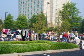 All of the people at the Katrina yard sale in the Marriott parking lot on Saturday.