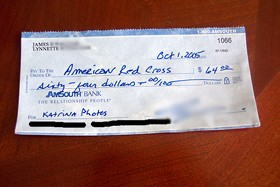 Donation to the American Red Cross.