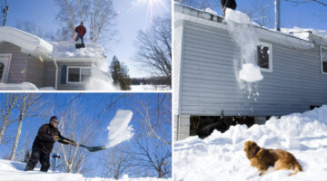 removing-snow-from-roof