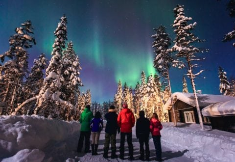 A Northern Lights trip with friends.