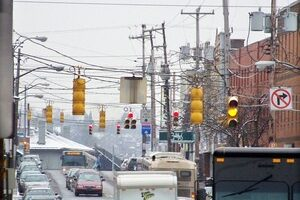 WARNING: Snowy, Icy Weather Make LED Traffic Lights Dangerous