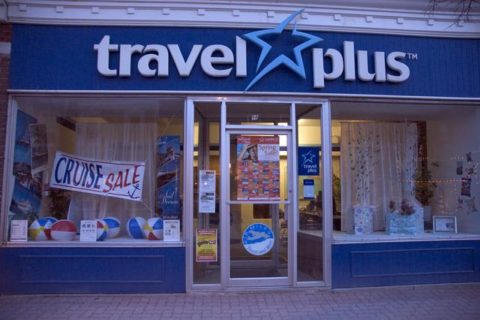 A travel agency store