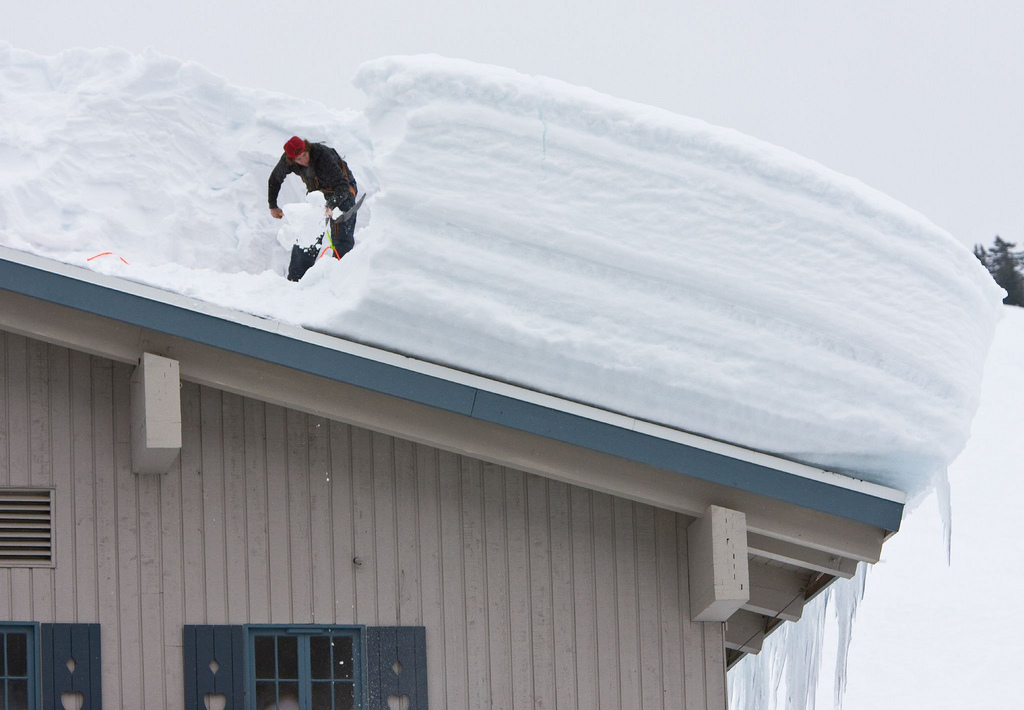 How To Remove Snow From A Sloped Roof