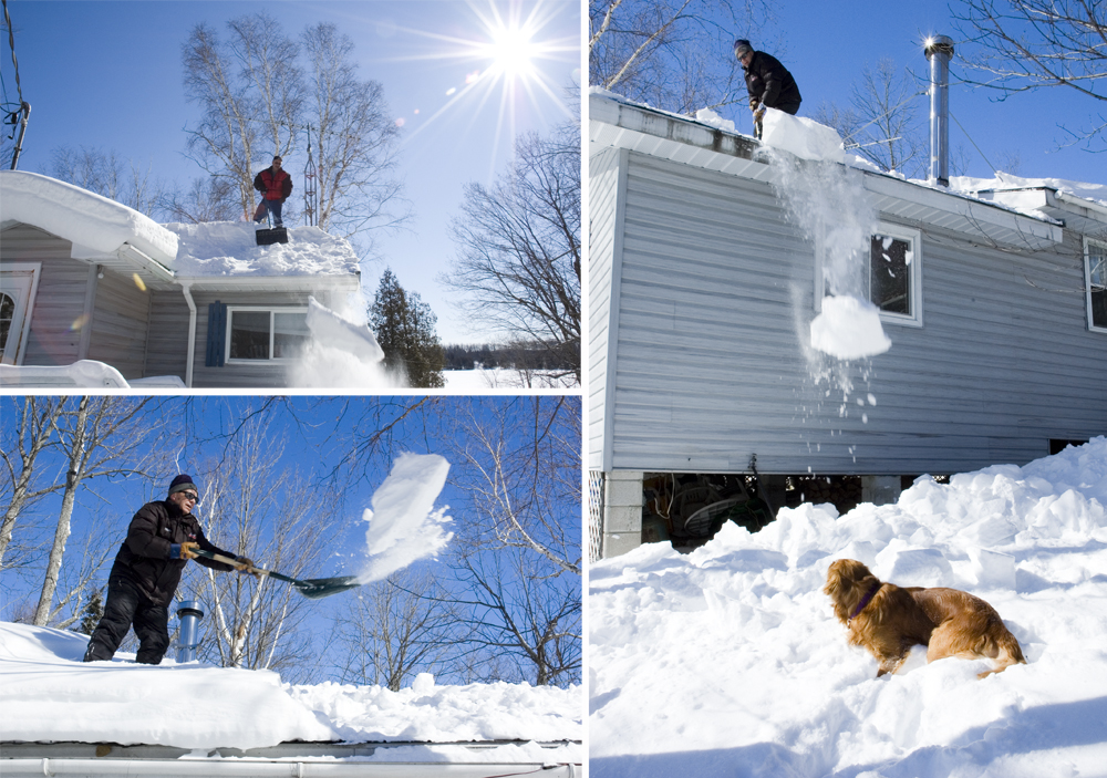 Removing Snow From Roof By Cory Blundon