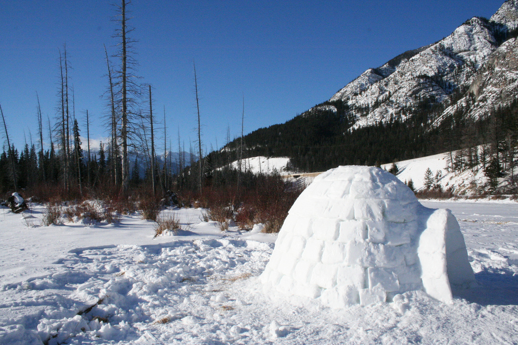 A Snow House Igloo By Banff Lake Louise Jpg