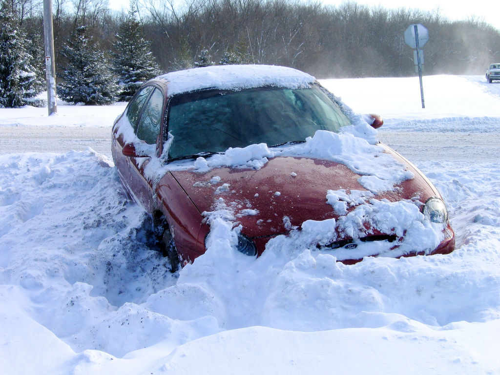 What To Do When Your Car Gets Stuck In Snow